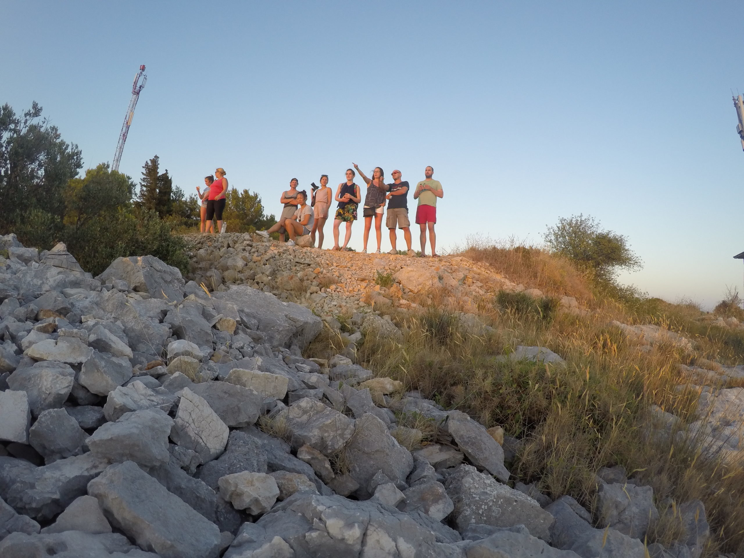 Jamming Adventures crew on Kornati top of the hill | Jamming Adventures Croatia